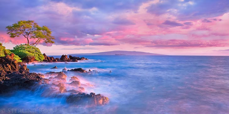 Where the Land Meets the Sea and the Day Meets the Night - Wailea Maui Fine Art Photography